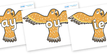 Phase 5 Phonemes on Owls - Phonemes, phoneme, Phase 5, Phase five, Foundation, Literacy, Letters and Sounds, DfES, display