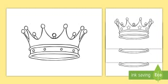 Medieval Castle Role Play Colouring Crowns - Medieval castle, castle, castles and knights, crown, colouring, fine motor skills, history, role play, turret, moat, drawbridge, maiden, knight