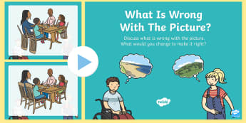 What Is Wrong with the Picture? PowerPoint - What is wrong with the picture?, mistake, spot, find, detective, silly, wrong, observation, observe