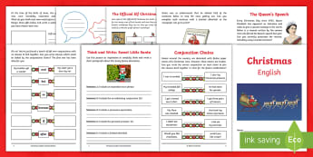 Year 4 Christmas English Activity Booklet - holiday booklet, homework booklet, y4, spag, writing activity, reading activity, xmas