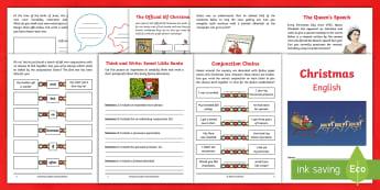 Year 4 Christmas English Activity Booklet - holiday booklet, homework booklet, y4, spag, writing activity, reading activity, xmas