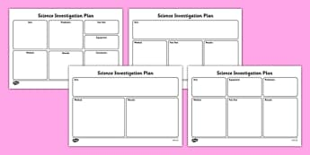 Science Investigation Writing Frame Planners - scientific investigation, science investigation planner, science experiment planner, science expiriment worksheet, ks2, science write up, ks1 write up, ks2 write up
