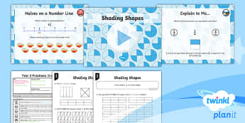 PlanIt Maths Y2 Fractions Lesson Pack Fractions of a Shape or Set of Objects (1)