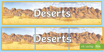 Deserts Display Banner - UAE, ADEC, MOE, animals, emirates, information, non fiction, science