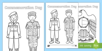 Commemoration Day Colouring Pages - Commemoration Day, Martyrs Day, UAE Holidays, UAE Celebrations, UAE