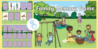 Family-Themed Memory Game Flipchart - Australia, EYLF, family, memory, ourselves, cards, interactive, visual discrimination, matching, kin