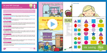 On and Off Early Concept Teaching and Learning Ideas Resource Pack - Baby Room, Birth To Two, Birth To 2, maths, position, positional, prepositions, prepositional, langu