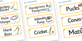 Dormouse Themed Editable PE Resource Labels - Themed PE label, PE equipment, PE, physical education, PE cupboard, PE, physical development, quoits, cones, bats, balls, Resource Label, Editable Labels, KS1 Labels, Foundation Labels, Foundation Stage L