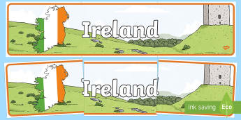 Ireland Display Banner - ireland, display banner, display, banner, country, island