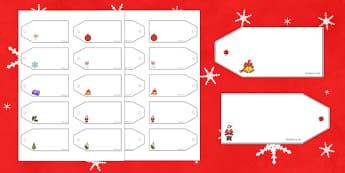 Christmas Fair Editable Price Tags - christmas fair, editable, price tags, edit, price, tags