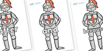 Connectives on Knights - Connectives, VCOP, connective resources, connectives display words, connective displays