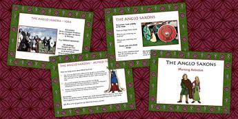 1 Week Anglo Saxons Topic Morning Activities UKS2 - saxons