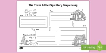 picture relating to Three Little Pigs Printable Story called The A few Minor Pigs Producing Frames and Will help Most important Supplies