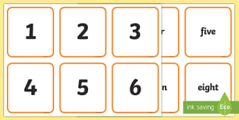 Number Snap Numeral and Number Word 0-100 Cards - Number Snap Numerals and Number Words 0 20 - number snap, numerals, number words, 0-20,numberals, ma