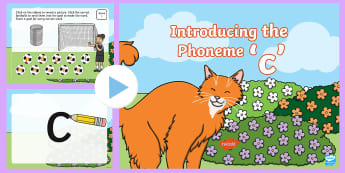 Introducing the Grapheme 'c' PowerPoint - phonics, letters and sounds, phoneme, c, powerpoint, phase 2