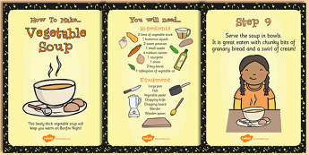Vegetable Soup Recipe Cards - recipe, cards, vegetable soup