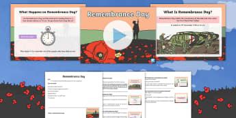 KS1 Remembrance Day Assembly Pack - 11th November, Poppy Day, Armistice Day, World War One, Poppy Appeal