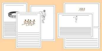 Ancient Olympics Writing Frames - ancient olympics, writing frames, writing, frames