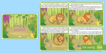 Leul și șoricelul Poveste - fabule, esop, fabulă, poveste ilustrata, povești ilustrate, povesti, dezvoltare personala, Romania