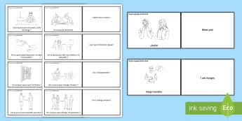 Target Language Word Cards Spanish  - Spanish, Vocabulary, target, language, word, cards