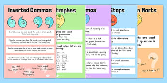 Punctuation Posters Pack - australia, punctuation, posters, pack, display