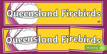 Queensland Firebirds Netball Display Banner-Australia