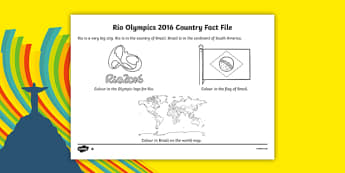 Rio Olympics 2016 SEN Differentiated Fact File Worksheet / Activity Sheet Pack, worksheet