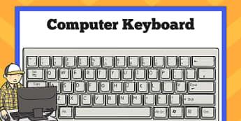 Computer Keyboard Poster - computer, keyboard, poster, display