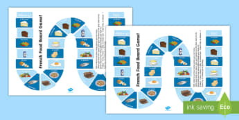 Food Board Game French - French Games, French board games, French food, French preferences, French food and drink, likes and