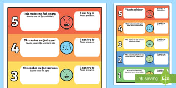Feelings Trigger Chart with Strategies English/Italian - Feelings Trigger Chart With Strategies - feelings, trigger, chart, strategies, feelins, fellings