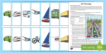 Transport Whole Class Interactive Game German - Travel, Transport, Vehicles, Game, MFL, German, Languages, Spiel, Fahrzeuge, Verkehrsmittel