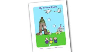 Traditional Tales Sticker Reward Chart 30mm - reward chart, sticker chart, sticker reward chart, traditional tales reward chart, traditional tales chart