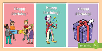 Birthday Cards - cards, happy birthday, celebrate, greeting card, writing, celebration, gift