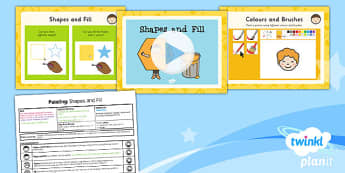 Computing: Painting: Shapes and Fill Year 1 Lesson Pack 3