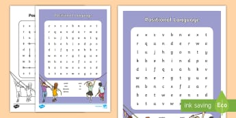 Positional Language Word Search - NI KS1 Numeracy, positional language, prepositions, word search, home learning