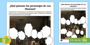 Nubes de pensamiento: Las Meninas - Velázquez, Golden Age, Persuade, Educación Plástica, Sexto Curso Primaria, Margarita, Mariana De