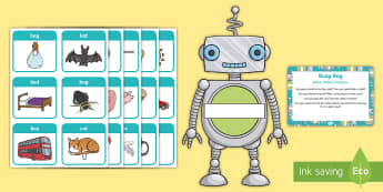Robot Robbie Posting Busy Bag Prompt Card and Resource Pack - EYFS, Phase 1, Aspect 6, Voice Sounds, letters and sounds, phonics, speaking, speech