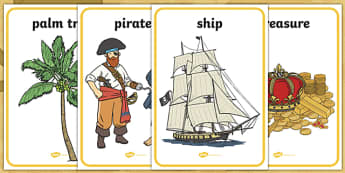Pirates Topic Display Posters - Pirate, Pirates, Topic, Display, Posters, Freize,  pirate, pirates, treasure, ship, jolly roger, ship, island, ocean