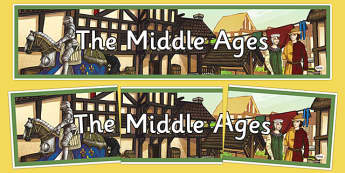 Middle Ages Display Banner - middle ages, medieval, display banner, display, banner