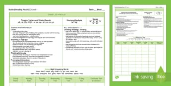 New Zealand Green Guided Reading Weekly Plan - Literacy, Reading, Green, Colour Wheel, Guided Reading