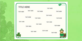 St Patricks Day Themed Editable Word Mat - literacy, writing
