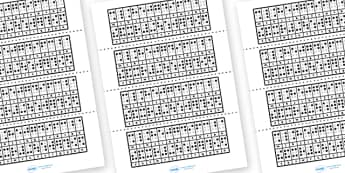 Braille Reverse Alphabet Strips - braille reverse alphabet strips, braille, alphabet, dots, blind, reverse, alphabet strips, strip, Louis Braille, visually impaired, Alphabet, Learning letters, Writing aid, Writing Area