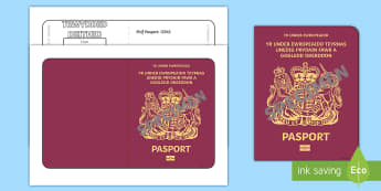 British Passport Template Welsh Translation - roleplay, language