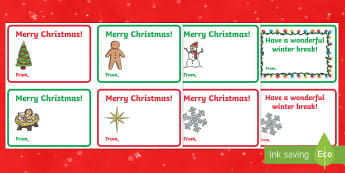 Holiday Gift Card Template - ESL Christmas Resources