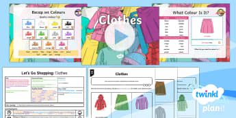 French: Let's Go Shopping: Clothes Year 6 Lesson Pack 3