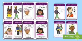 SEAL How To Help Your Anger Cards - SEAL, education, home school, child development, children activities, free, kids, children behaviour, behavior children, behaviour management, anger