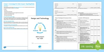 Design and Technology Skills Passport Assessment Pack  - Achievement, Key stage 3, Tracking, self-assessment, assessment for learning