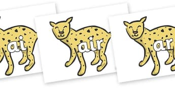 Phase 3 Phonemes on Cheetahs - Phonemes, phoneme, Phase 3, Phase three, Foundation, Literacy, Letters and Sounds, DfES, display