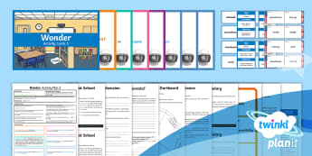 Fiction Wonder by R J Palacio Primary Resources - Year Six