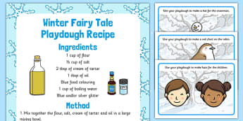 Winter Playdough Recipe and Mat Pack - winter, playdough, recipe, mat, pack